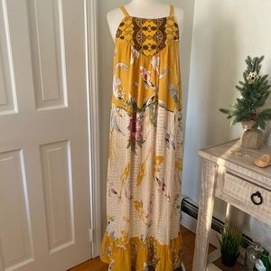 Anthropologie Dresses - Anthro One September Fish Floral Paradiso Maxi XL